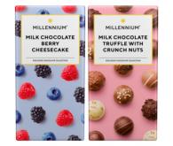 Молочний шоколад MILLENNIUM з начинкою 100г