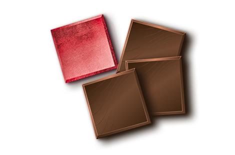 Шоколад чорний 74% формат неаполітанка в червоній фользі (нетто) 1кг