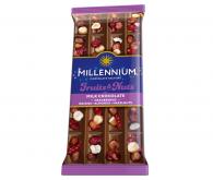 Шоколад  молочний «Millennium Fruits & Nuts» 90г