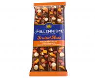 Шоколад молочний «Millennium Fruits&Nuts» 90г