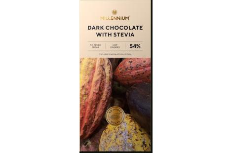 """Шоколад чорний 54% """"Millennium зі стевією"""""""