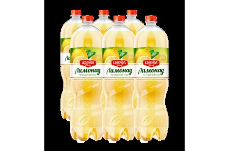Напій безалкогольний «Лимонад» ТМ «Legenda» сильногазованний 2л