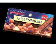 """Шоколад """"Millennium Gold"""" молочный с цельным миндалём и изюмом"""