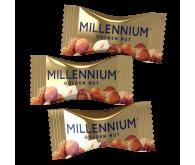 Конфеты шоколадные Millennium «Golden Nut» с начинкой и цельным лесным орехом 1кг