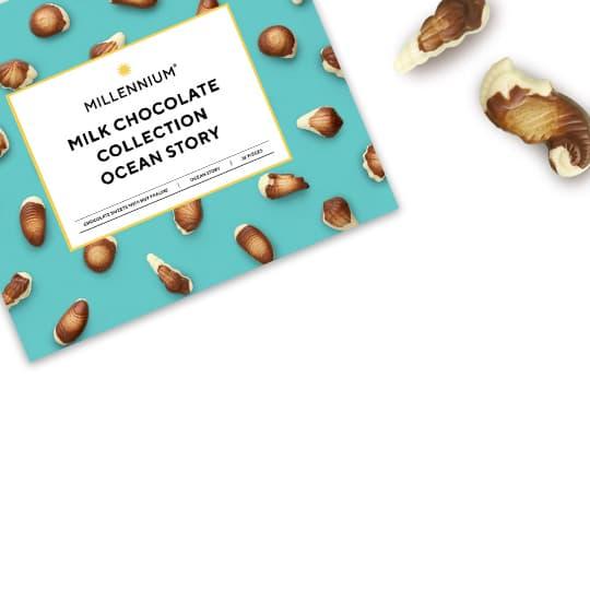 Шоколадні цукерки в коробках