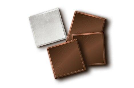 Шоколад чорний 74% формат неаполітанка в срібній фользі (нетто) 1кг