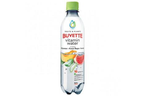 Напій Buvette Vitamin Water з абрикосом, інжиром та алое-вера 0.5л