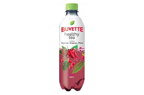 Напиток «Buvette Healthy Tea со вкусом каркаде, клюквы и мяты» 0.5л