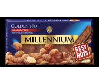 Молочний шоколад Millennium Golden Nut з мигдалем 100г