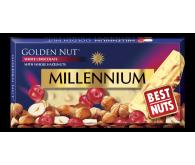 Білий шоколад Millennium Golden Nut з лісовими горіхами та журавлиною 100г