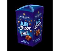 Цукерки шоколадні Millennium Air молочні з молочною начинкою 100г