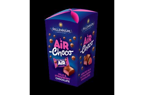 Конфеты шоколадные Millennium Air с молочной и клубничной начинкой 100г