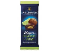 Шоколад чорний «Millennium Mousse» з мусовою та лаймовою начинкою 135г