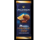 Шоколад молочний «Millennium Mousse» з мусовою та апельсиновою начинкою 135г