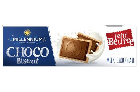 Шоколад молочний «Millennium Choco Biscuit» з печивом 130г