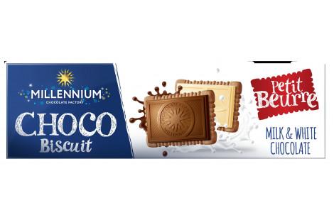 Шоколад Асорті «Millennium Choco Biscuit» з печивом  130г