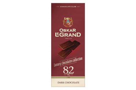 Шоколад «Oskar le Grand» чорний 82% 82г