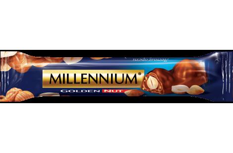 Шоколад Millennium «Golden Nut» молочний з начинкою та цілими горіхами 40г