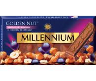 Молочний шоколад Millennium Golden Nut з лісовими горіхами та родзинками 100г