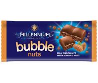 Шоколад «Millennium» пористий молочний із подрібненим мигдалем 70г