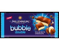 Шоколад «Millennium» пористий молочний та білий 70г