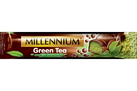 Шоколад «Millennium» пористий чорний «GREEN TEA» 32г